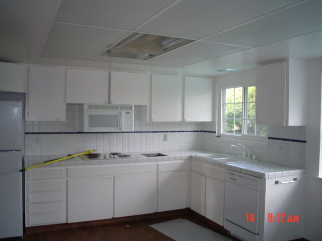 existing kitchen, broom is ready to work